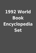 1992 World Book Encyclopedia Set