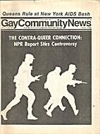 Gay Community News (Volume 14, Number 39)…