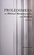 Prolegomena on Biblical Hermeneutics and…
