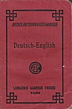Kleines Wörterbuch, Deutsch-Englisch by Dr.…