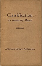 Classification: an introductory manual by…