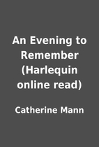 An Evening to Remember (Harlequin online…