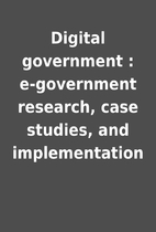 Digital government : e-government research,…