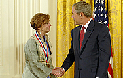 Author photo. Nina V. Fedoroff receives the National Medal of Science (National Science Foundation)