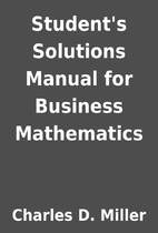 Student's Solutions Manual for Business…