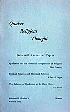 QRT #6 (3:2) Quakerism and Historical…