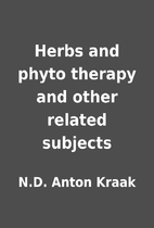 Herbs and phyto therapy and other related…