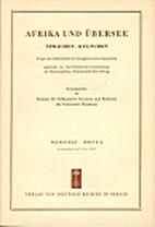 Afrika und Übersee 45 (1961) 4: 233-320