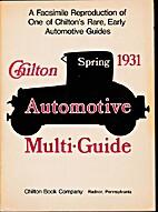 Chilton Automotive Multi-Guide Spring 1931:…