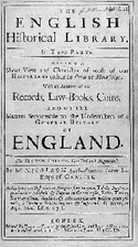 The English historical library. In three…
