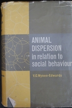 Animal Dispersion in Relation to Social…