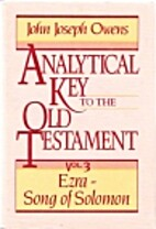 Analytical Key to the Old Testament, vol. 3:…