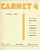 Carnet 4 - Avril 1931 by Carlo Suarès