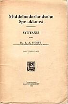 Middelnederlandsche spraakkunst : Syntaxis…
