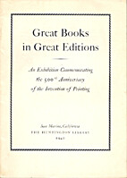 Great books in great editions by Henry E.…