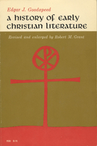 A History of Early Christian Literature by…