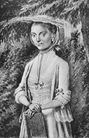Author photo. Portrait of Betje Wolff (c. 1754)