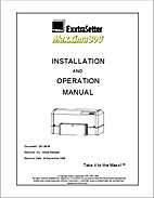 ExxtraSetter Maxxima300 Installation and…