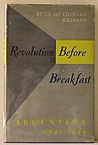 REVOLUTION BEFORE BREAKFAST by Ruth Greenup