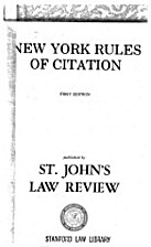 New York rules of citation by William H.…