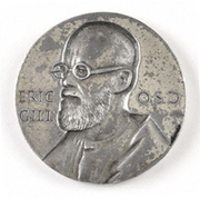 """Author photo. Courtesy of Joe Cribb, the Eric Gill Society. <a href=""""http://www.ericgill.org.uk/"""" rel=""""nofollow"""" target=""""_top"""">http://www.ericgill.org.uk/</a>"""