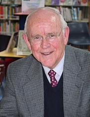 Author photo. Nicholas Hasluck at Mosman Library. Credit: Flickr user Mosman Library