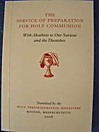 Service of preparation for Holy Communion…