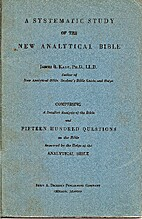Systematic Study of the New Analytical Bible…