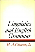 Linguistics and English grammar by Henry A.…