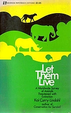 Let them live; a worldwide survey of animals…