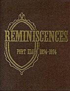 Reminiscences : Port Elgin Centennial,…