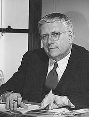 Author photo. nla.pic-an25060678 Dupain, Max, 1911-1992. [Portrait of H.V. Evatt sitting at a desk, 1951] [picture] 1951. 1 photograph : gelatin silver ; 28.8 x 24.0 cm.