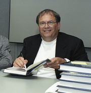 Author photo. Curtis Peebles in 2004 [credit: Tom Tschida]