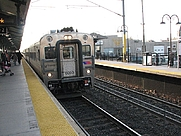 Author photo. NJT Train pulling into Red Bank, New Jersey, January 2008; photo by Jorge Gobbi