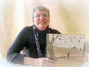 "Author photo. Lois Lowry holding ""Crow Call."" 2009 Baltimore Book Festival. ©2009"