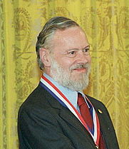 Author photo. Ken Thompson and Dennis Ritchie being awarded the National Medal of Technology from Bill Clinton (from Wikipedia).