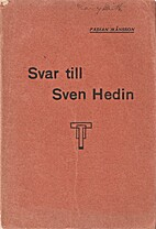 Svar till Sven Hedin by Fabian Månsson