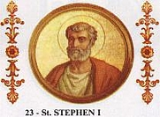 Author photo. Pope Stephan I / Wikipedia