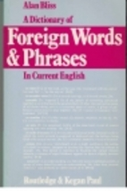 A Dictionary of Foreign Words and Phrases in…