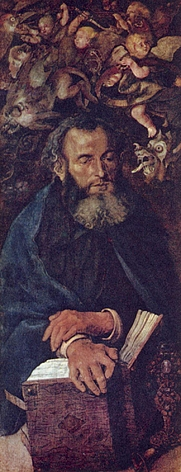 Author photo. <i>St. Anthony</i> by Albrecht Dürer, c. 1496