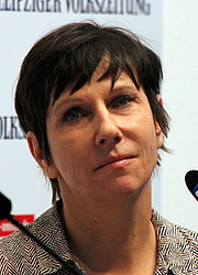 "Author photo. Angelika Klüssendorf, Leipzig Bookfair 2014 By Lesekreis - Own work, CC0, <a href=""https://commons.wikimedia.org/w/index.php?curid=31648481"" rel=""nofollow"" target=""_top"">https://commons.wikimedia.org/w/index.php?curid=31648481</a>"