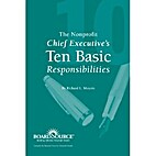 The Nonprofit Chief Executive's Ten Basic…