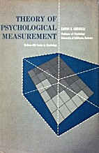 Theory of psychological measurement by Edwin…