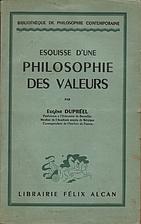 Esquisse d'une philosophie des valeurs by…