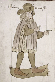 """Author photo. Full-page portrait of Sir John Mandeville, 1459<br>Courtesy of the <a href=""""http://digitalgallery.nypl.org/nypldigital/id?427555"""">NYPL Digital Gallery</a><br>(image use requires permission from the New York Public Library)"""