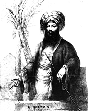 Author photo. Source: &quot;Narrative of the Operations and Recent <br> Discoveries Within the Pyramids, Temples, Tombs <br>and Excavations in Egypt and Nubia&quot;<br> by Giovanni Battista Belzoni (London, 1820)