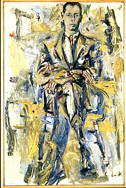 Author photo. Portrait by Elaine de Kooning (1956)