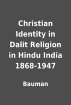 Christian Identity in Dalit Religion in…