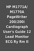 HP M1771A/M1770A PageWriter 200/200i…