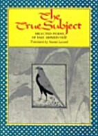 The True Subject (Lockert Library of Poetry…